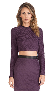 LaPina by David Helwani Veronica Top in Plum