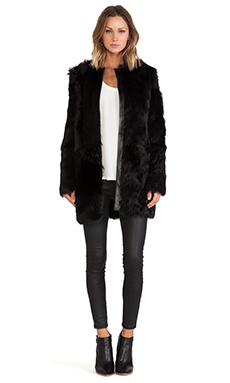 LaMarque Adrian Reversible Sheep Fur Jacket in Black