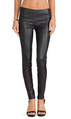 LaMarque Winnie Seamed Leather Legging in Black