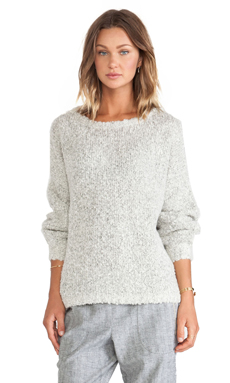 LA't by L'agence Long Sleeve Sweater in Powder