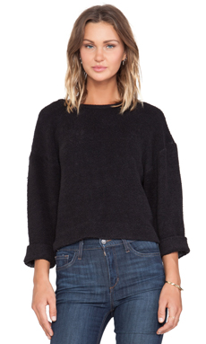 LA't by L'agence Long Sleeve Pull Over in Black