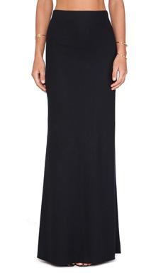 LA't by L'agence Long Fishtail Skirt in Black