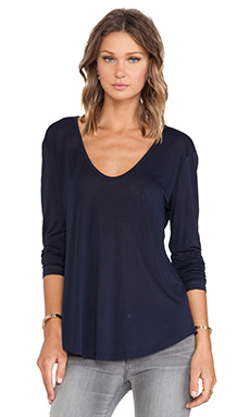 T-SHIRTS MANCHES LONGUES SCOOP V NECK