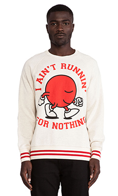 Lazy Oaf Runnin' Race Sweatshirt in Oatmeal