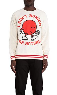 Lazy Oaf Runnin' Race Sweatshirt in Oatmeal