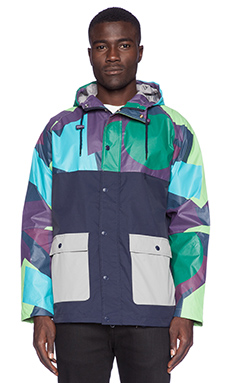 Lazy Oaf Camo Panel Mac Jacket in Blue