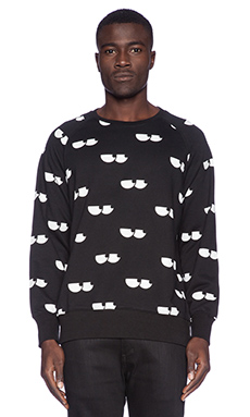 Lazy Oaf Eye Socket Sweatshirt in Black