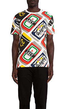 Lazy Oaf Beer Can Tee in White