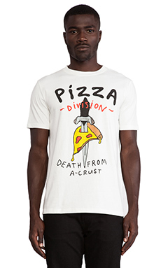 Lazy Oaf Pizza Death Tee in White