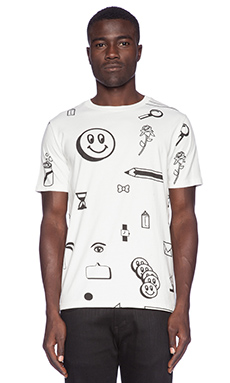 Lazy Oaf Clip Art Tee in White