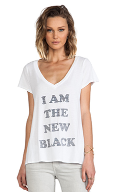 Local Celebrity Jovi New Black Tee in White