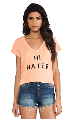 Local Celebrity Jovi Hi Hate Tee in Fade Red