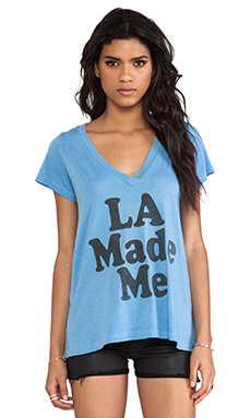 Local Celebrity Jovi LA Made Me Tee in Light Blue