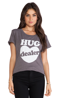 Local Celebrity Hug Dealer Tee in Charcoal