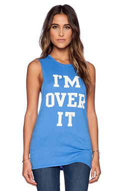 Local Celebrity I'm Over It Muscle Tank in Ocean