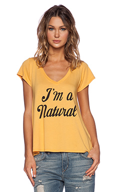 Local Celebrity Natural Jovi Tee in Sunflower