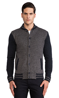 life/after/denim Alumni Cardigan in Heather Charcoal