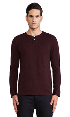 life/after/denim Hachiko Henley in Heather Dark Berry