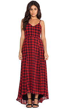 Line & Dot Empire Records Maxi Dress in Country Plaid