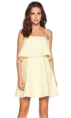 Line & Dot Jasper Strapless Dress in Citrine