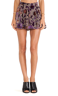 Line & Dot Ava Short in Burnout Print