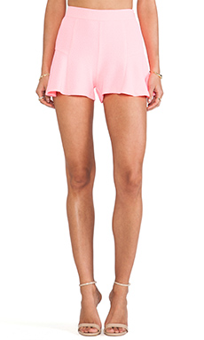 Line & Dot Mini Skort in Neon Pink