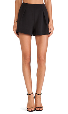 Line & Dot Drew Tuxedo Short in Black