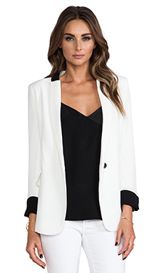 Line & Dot Tailored Jacket in White