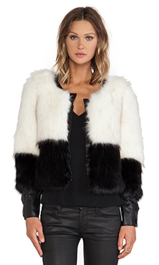 Line & Dot Scarlett Faux Fur Jacket