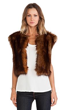 Line & Dot Scarlett Faux Fur Vest