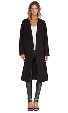 Line & Dot Phoebe Long Coat in Black