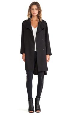 Line & Dot Baldwin Coat in Black