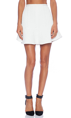 Line & Dot Leo Flare Skirt in White