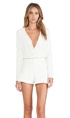 Line & Dot Kirsten Romper in White