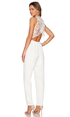 Line & Dot Tina Jumpsuit in White