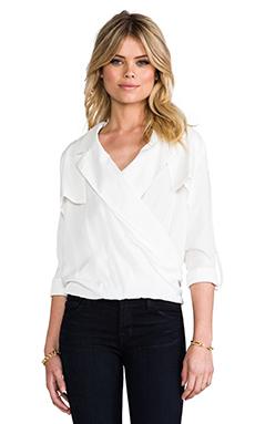 Line & Dot Overlap Shirt in White