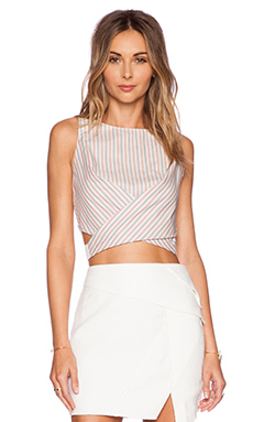 Line & Dot Bloom Halter Tank in Mix Stripe Party