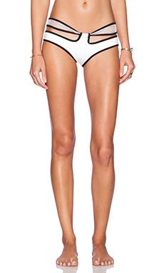 LEE + LANI The La Croix 2 Bikini Bottom in White