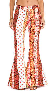 LENNI Trip Bell Pant in Paisley