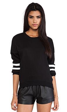 L'AMERICA Baby I Love You Pullover in Black