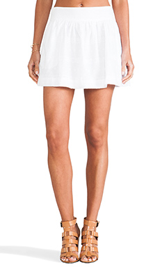 L'AMERICA Summer in Sweden Embroidered Skirt in White