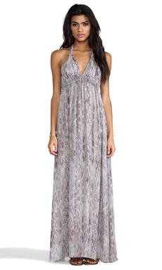 Love Shack Fancy Love Maxi Dress in Blue Grey Watersnake