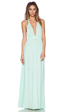 LoveShackFancy Braided Love Dress in Seafoam