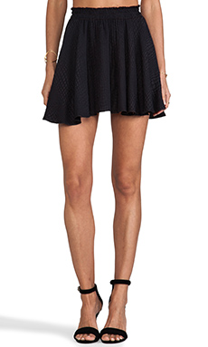 LoveShackFancy Circle Mini Skirt in Black