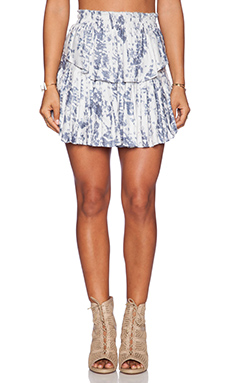 LoveShackFancy Ruffle Mini Skirt in Grey Multi