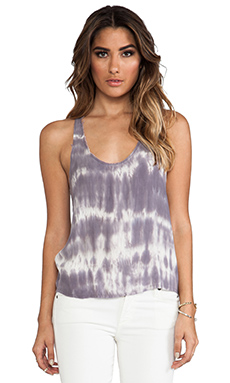 LoveShackFancy Racer Back Tank in Moonbeam