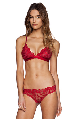 Les Coquines Harlow Lace Triangle Bra in Rouge