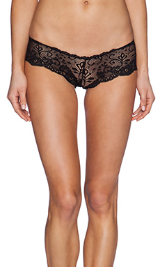 Les Coquines Evi Lace Cheeky in Noir