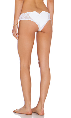 Les Coquines Belle Heart Bottom in Blanc