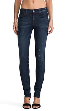 Level 99 Mid Rise Lily Skinny Straight in Maize